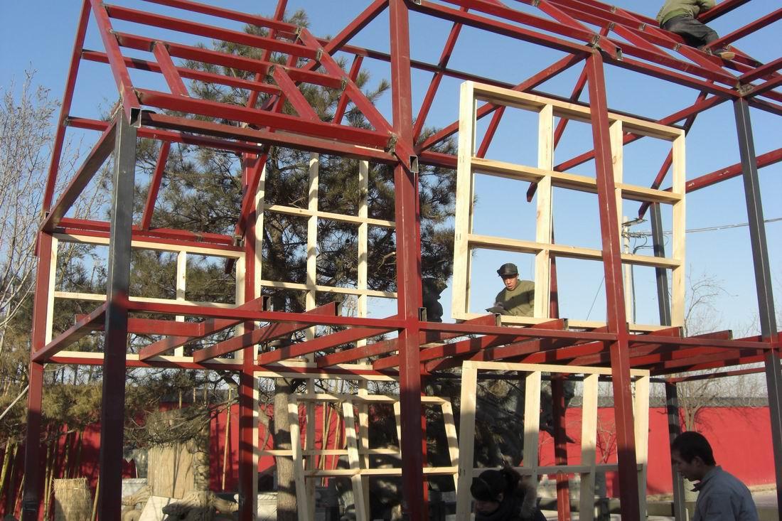 别:内部钢结构制作过程