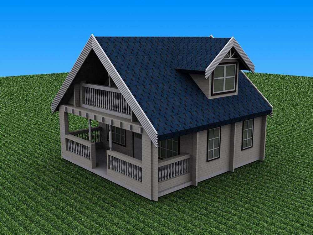 两层木屋平面图