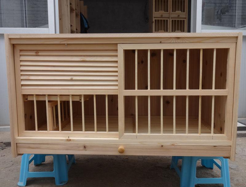 全实木百叶种鸽配对笼(可定做)、巢箱、调节箱