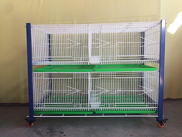 鸽鸟笼繁殖笼巢箱台式笼台湾赛升信鸽配对笼展示训放笼二层(包邮