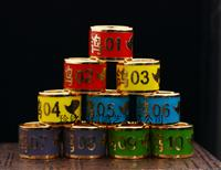 铜胎珐琅彩极品镀金环(特留种鸽)(编号01-10)