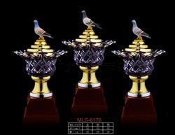 水晶木座奖杯