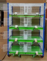 台湾高级配对笼、赛鸽调节箱 带不锈钢高级栖架