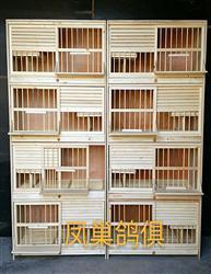 组合种鸽实木巢箱