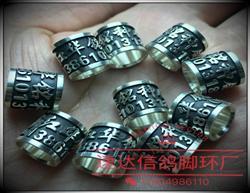 925银材质私环订做 高档私环 银环