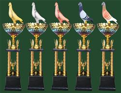 四柱水晶奖杯
