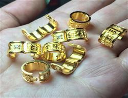 订做现货开口带钻精铜镀金种鸽品系鸽子脚环/信鸽名家足环/金环私环
