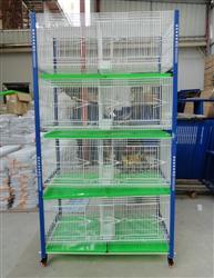 台湾配对笼 观赏笼 赛鸽调节箱 四层八格