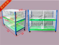 鸽鸟笼繁殖笼巢箱台式笼台湾信鸽配对笼展示训放笼二层4格(包邮