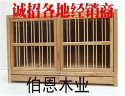 上翻门双屉木质配对笼
