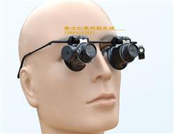 【包邮】带LED灯20倍眼镜式双镜头鸽眼