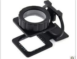 鸽眼放大镜 放大镜20倍双镜头 全金属折叠光学镜片