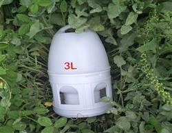 赛鸽3升纯白饮水器 包邮