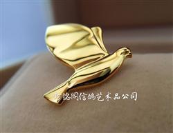 比利时金鸽奖徽章(镀24k金)
