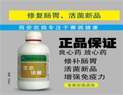 包邮西安凯鸽-生态活菌调整肠道,提高鸽子免疫抗病力