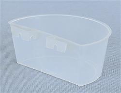 半圆挂盒 挂槽水盒食盒(白.蓝)两色
