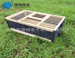 鸽子用品用具信鸽放飞笼鸽笼木制帆布折叠笼 训放笼 60公分
