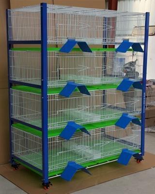 台湾原装进口新款高级种鸽配对笼 赛鸽调节箱 四层带浸塑栖架
