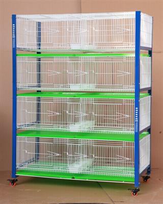 专利产品台湾高级配对笼 展示笼 赛鸽调节箱四层八格