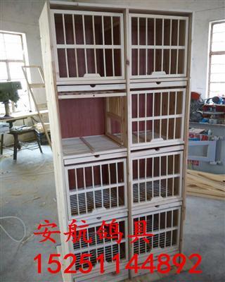 实木鸽子笼单用配对箱养殖鸽笼信鸽笼鸽具8格鸽子配种箱