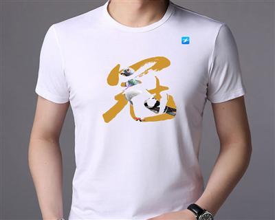 """爱鸽者夺""""冠""""(文化衫)蚕丝棉圆领T恤"""