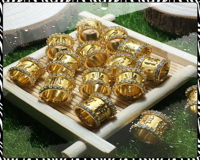 精铜镀金环.顶级私环.镶44钻私环定做