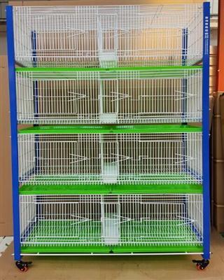 台湾高级配对笼 展示笼 赛鸽调节箱四层八格专利产品
