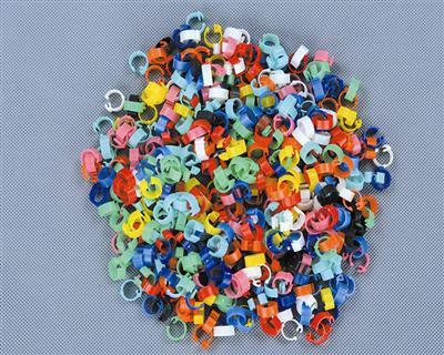 塑料识别环--�z100个/包,每包一种纯颜色�{