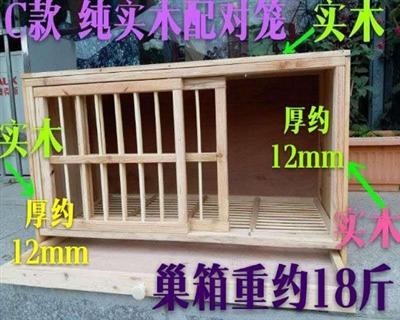 纯实木巢箱80厘米左右推拉门C款配对笼孵蛋巢箱鸽笼