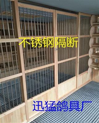 鸽舍不锈钢隔断 鸽子笼 鸽棚 木质鸽舍鸽具 可定做