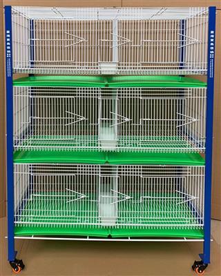 配对笼台湾新款高级种鸽繁殖笼三层六对