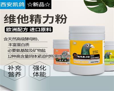 凯鸽鸽药新品【维他精力粉500g】补充营养,强化体能!