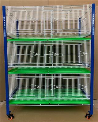 配对笼 展示笼 台湾宝岛信鸽原装进口新款三层六格