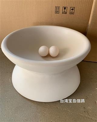 石膏碗巢盆 鸟巢 台湾鸽子碗窝