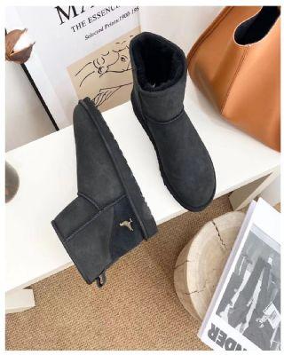 冬季秋季雪地靴保暖鞋 黑色