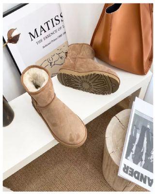 冬季秋季雪地靴保暖鞋棕色