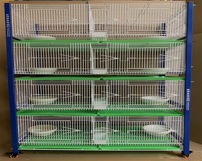 配对笼台湾原装进口四层八格带石膏碗巢盆8个