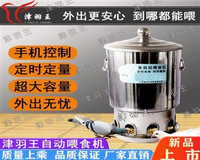 津羽王鸽子自动喂食机定时下料器圆桶喂食器