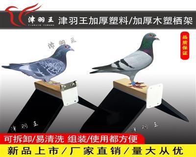 津羽王新款 组装木塑栖架 可拆