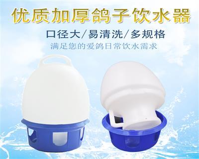 信鸽用品用具信鸽饮水器水壶鸽子水槽鸟用水壶6升6L透明