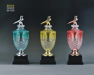 B304S水晶玻璃鸽子奖杯